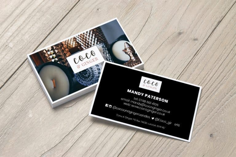 Coco & Ginger business cards