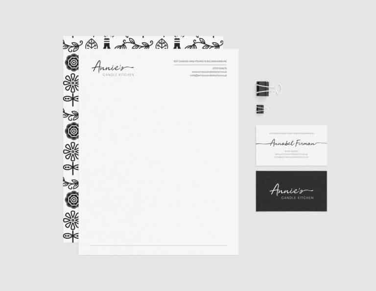 Annies Candle Kitchen - Letterhead and Logo